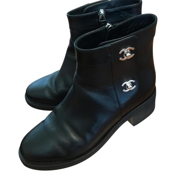 CHANEL Shoes - Chanel turnlock ankle boots